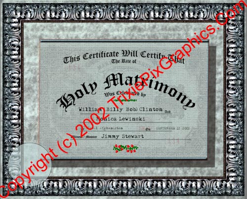 FC-08 Fake Marriage Certificate