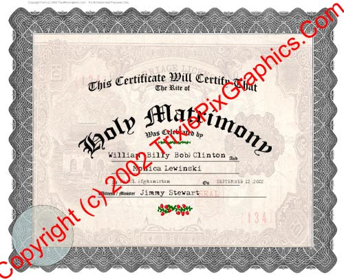 FC-12 Fake Marriage Certificate