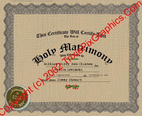 FC-13 Fake Marriage Certificate