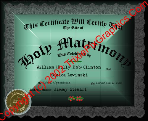 FC-16 Fake Marriage Certificate