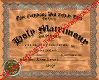 FC-20 Fake Marriage Certificate