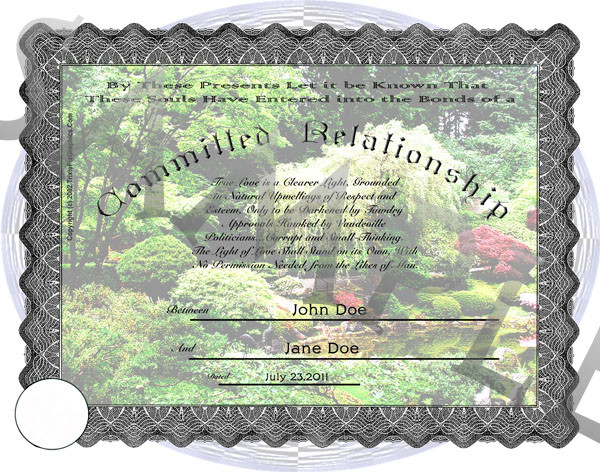 Personalized Committed Relationship Certificates