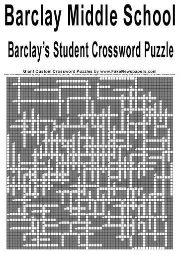 Giant Crossword Puzzle Make Your Own Custom Crossword