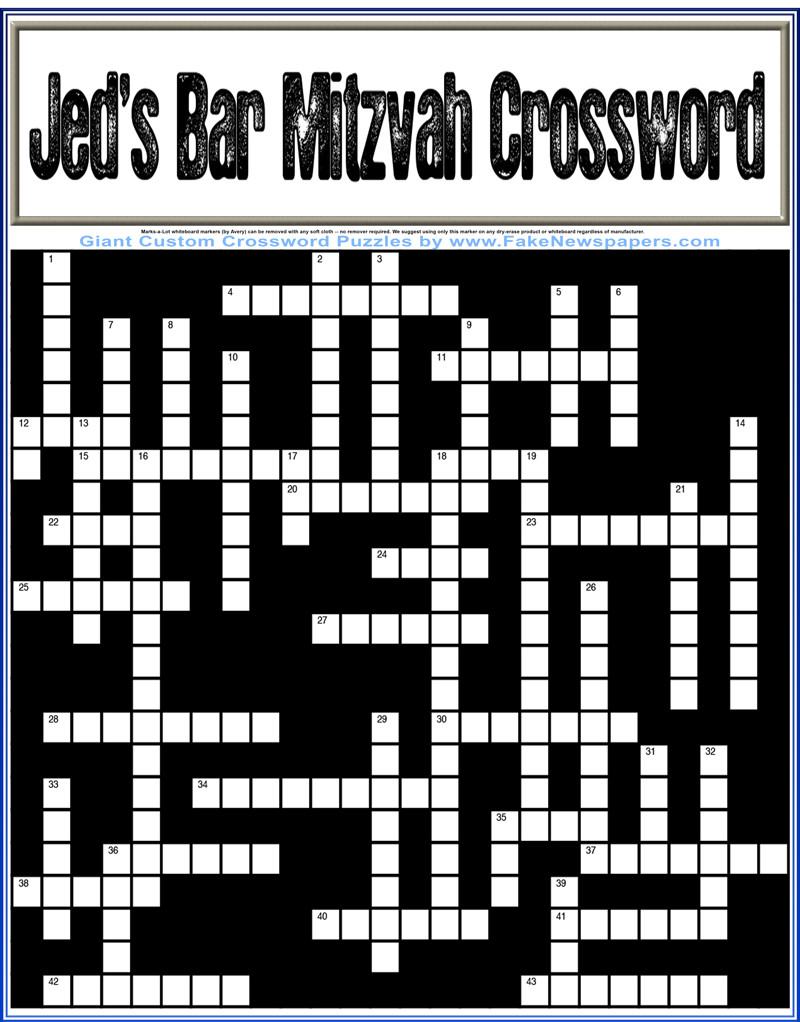 Make your own crossword.
