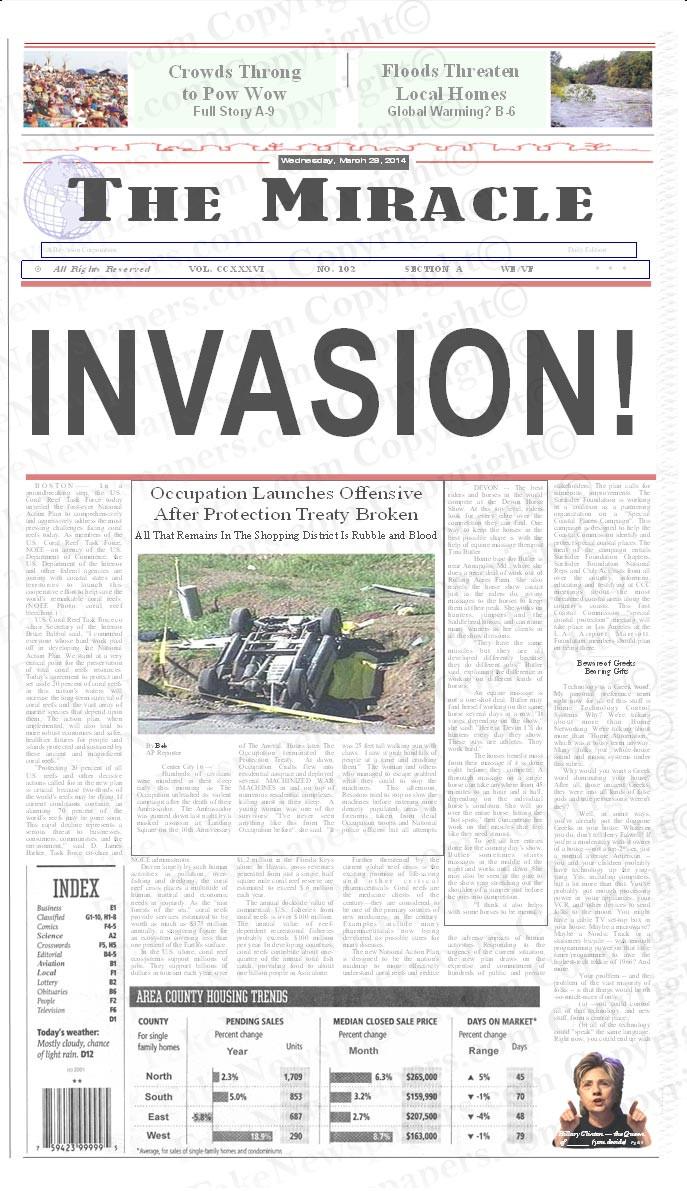 Personalized Full Size Newspaper, Fake Newspaper