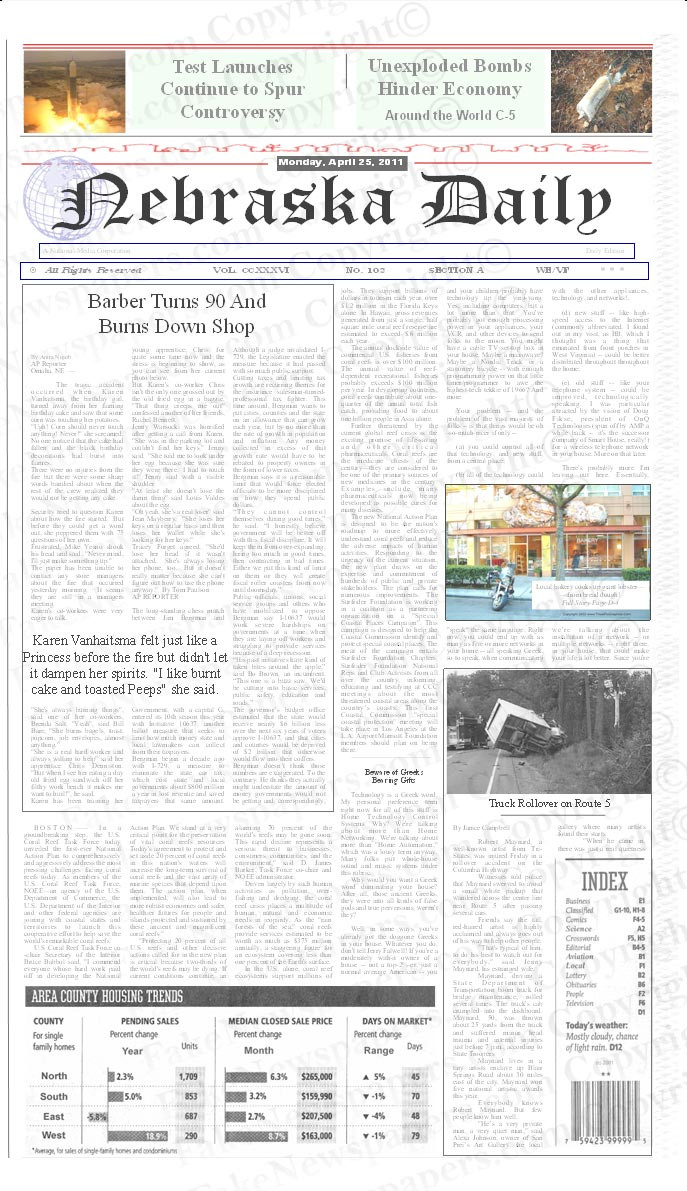 Personalized Full Size Newspaper Fake Newspaper – Newspaper Headline Template