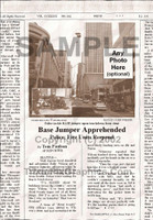 Fake Joke Newspaper Article BASE JUMPER APPREHENDED