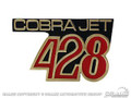 &quot;428 Cobra Jet&quot; Fender Emblem (Gt500)