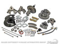 Disc Brake Conversion Kit W/master Cylinder (Cast Iron Single Piston, Power, Includes New Disc Brake Spindles)