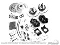 Disc Brake Conversion Kit W/master Cylinder (Cast Iron 4 Piston, Manual Or Power Brakes, Bolts To Drum Brake Spindles)