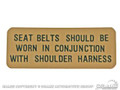 Shelby Sun Visor Seat Belt Decal