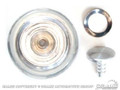 68-73 Window Crank Knob (clear/silver)