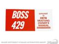 70 Boss 429 Owners Manual
