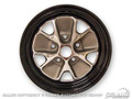 66 Styled Steel Wheel (14x5 Black Rim)