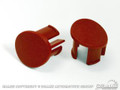 87-93 Arm Rest Plugs (Red, Lh)