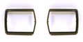 68-70 Belt Buckle Bezels,Black