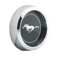 Alloy Rim Black Hubcap-Horse