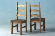 Corona Chair in Distressed Waxed Pine