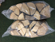 2 BAGS X Kiln Dried Hardwood Logs (EACH BAG 10kg approx)