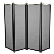 4 Fold Regency Fireguard Black/Pewter 66cm