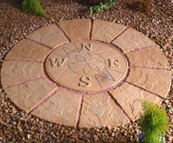 Compass Rotunda Buff Gold 1.2m