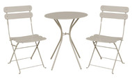 Pisa 2 Seater Cream Bistro Set  -  LOCAL DELIVERY ONLY