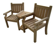 Brandan Polyteak Companion Bench  -  LOCAL DELIVERY ONLY