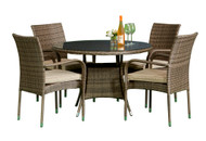 Toulouse 4 Seat Dinning Set  -  LOCAL DELIVERY ONLY