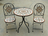 Deluxe Mosiac Bistro Set  -  LOCAL DELIVERY ONLY