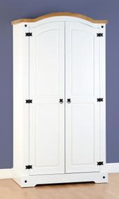 Corona 2 Door Wardrobe in White