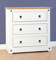 Corona 3 Drawer Chest in White