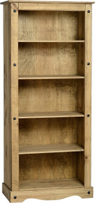 Corona Bookcase Tall in Distressed Waxed Pine