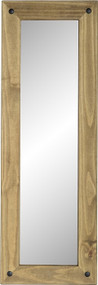 Corona Long Wall Mirror in Distressed Waxed Pine