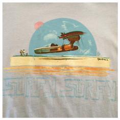 Surfy Landspeeder Tee -  Women's blue