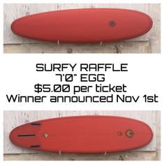 $5 Surfboard Raffle Ticket