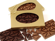 Milk Chocolate Breakup Bar in a Gift Box. ( both milk and dark chocolate shown in photo )