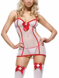 Sheer Night Shift Nurse Set Costume