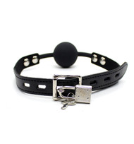 Black Silicon Ball Gag Bondage Accessory