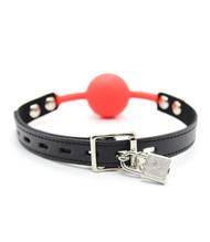 Red Silicon Ball Gag Bondage Accessory