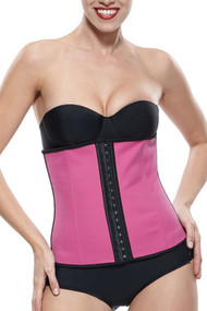 Pink Latex Steel Boned Waist Training Corset