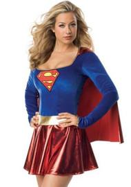 Deluxe Super Girl Metallic Costume