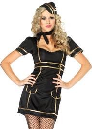 Pin-up Black Stewardess Costume