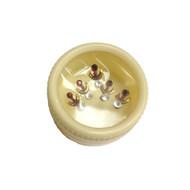 5 piece Ruby Red Rhinestone Gold Half Moon  Stick On Adhesive Indian Bindi