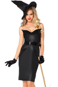 Vintage Pin-up Bewitched Pencil Cut Witch Halloween Costume Dress