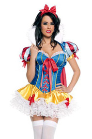 Deluxe Princess Snow White Fairytale Halloween Costume