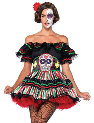 Senorita Muerta Day of the Dead Sugar Skull Mexican Halloween Costume