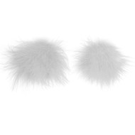 White Marabou White Sequin Christmas Babe Nipple Pasties