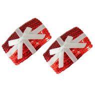Red Sequin Gift Box Christmas Surprise Nipple Pasties