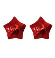 Red Star Sequin Reusable Adhsive nipple Burlesque Pasties