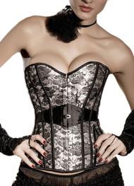 米色和黑色蕾丝紧身胸衣加上大小XXL